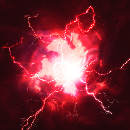 High voltage strike, abstract technology and science backgrounds