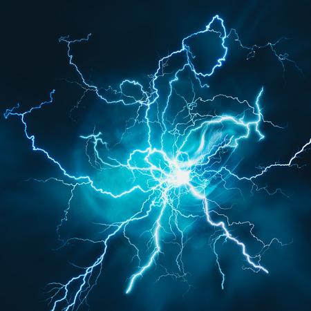 strom: Elektrischer Sturm. Abstrakte Wissenschaft und Energiewirtschaft Hintergründe Lizenzfreie Bilder