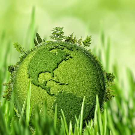 contaminacion ambiental: Green Planet, fondos ambientales abstractos