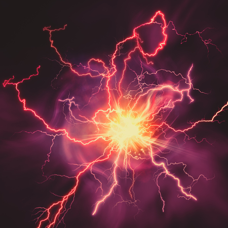 weather  thunder: High voltage strike, abstract technology and science backgrounds