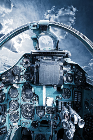 interceptor: flight interceptor. direct view from the old soviet interceptor cabin