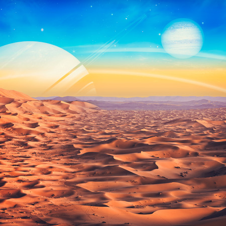 another: Another world view, abstract natural backgrounds. NASA imagery used Stock Photo