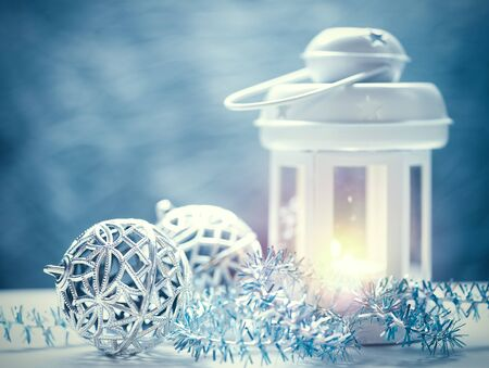 christmas fun: Abstract Christmas backgrounds with lantern and beauty holiday decorations
