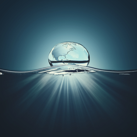 water concept: Water droplet. Abstract natural eco background. Nature conservation concept Stock Photo