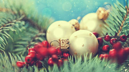 gold christmas: Abstract Christmas backgrounds with holiday decorations