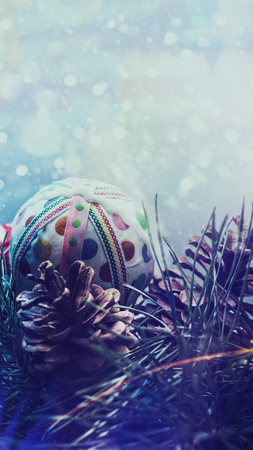 blue christmas: Abstract Christmas backgrounds with holiday decorations