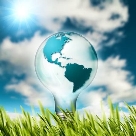 energia solar: el concepto de eco. Las energías renovables y el desarrollo sostenible de diseño Foto de archivo