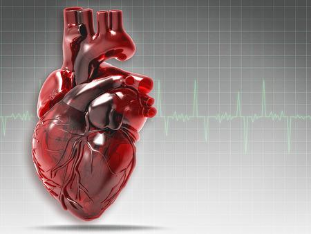 Abstracte medische en gezondheidszorg achtergronden met menselijk hart