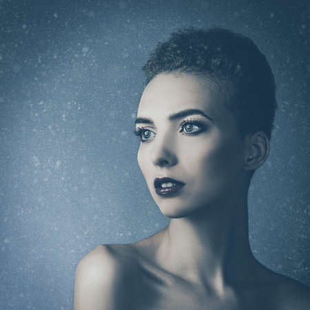 affecting: dramatic female portrait for your design Stock Photo
