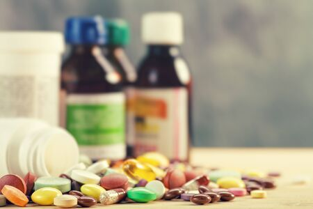 illness: Abstract medical backgrounds with colorful pills for your design
