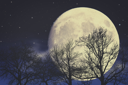 blue background: Under Moon light, abstract fantasy backgrounds Stock Photo