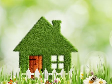 casa verde, extracto ecológicas y ambientales fondos
