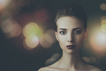 illuminate: Beauty in the darkness, female fashionable portrait