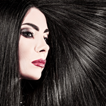 health beauty: Hair. Beauty female portrait health care concept