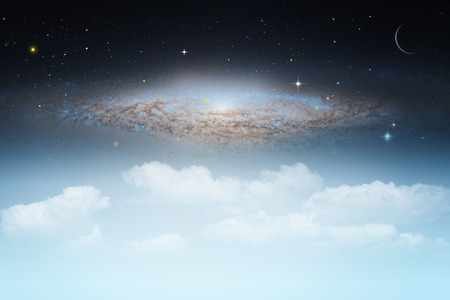 natural backgrounds: Starry night, abstract natural backgrounds with night skies and clouds