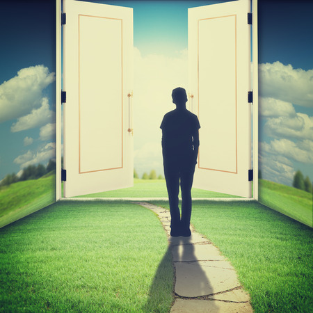otherworldly: The door to another world, sci-fi and religion backgrounds
