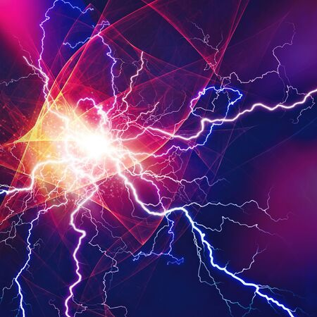 Thunder bolt, industrial and science abstract backgrounds Stock Photo