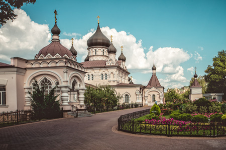 Pokrovsky Abbey. Architecture view. Historical buildings.