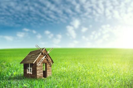 Fantastic rural landscape with green hills and beautiful skies Standard-Bild - 119337207