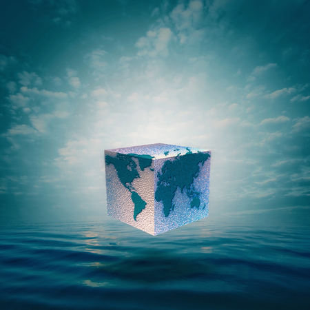 Eco balance with cube world. Abstract natural backgrounds Standard-Bild - 119337212