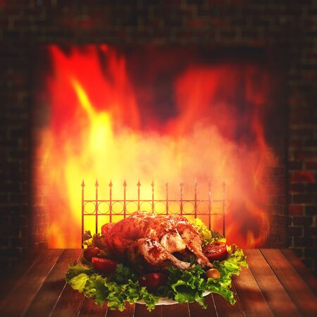 Grilled chicken. Abstract food backgrounds for your design Standard-Bild - 146138784