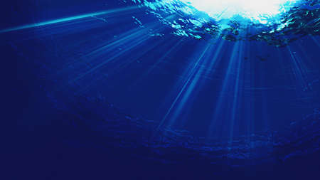 Deep blue sea. Underwater backgrounds for your design Standard-Bild