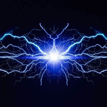 High voltage electric bolt. Teleport flash. Abstract power and energy backgrounds Standard-Bild