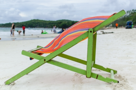 Chair in Samed island beach, Thailand Stock Photo - 13966260