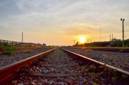 Chemin de fer à Map Tha Phut zone industrielle, Rayong, Thaïlande Banque d'images - 14028244