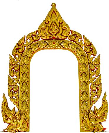 Thai stye window frame Stock Photo