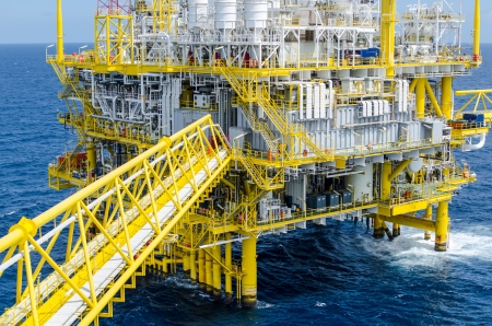 Offshore platform in south of Thailand Stock Photo - 14713370
