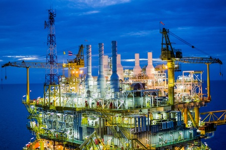 cloud industry: Offshore platform in south of Thailand Stock Photo