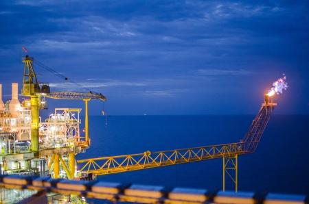 Offshore platform in south of Thailand Standard-Bild