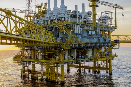 Offshore platform in south of Thailand photo