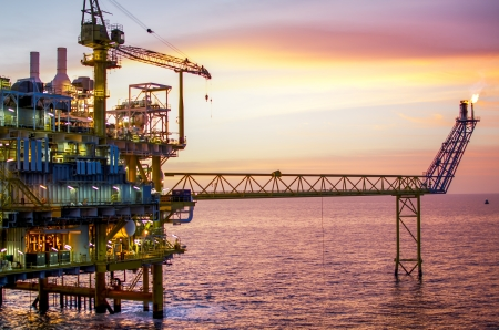 Offshore platform in south of Thailand Stockfoto