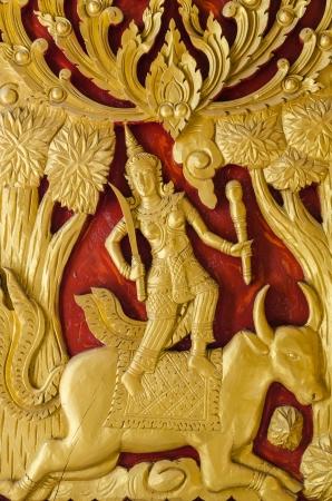 Thai chiqueiro escultura textura na parede Buddish igreja s