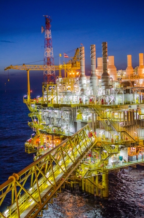 Offshore platform in south of Thailand Stock Photo
