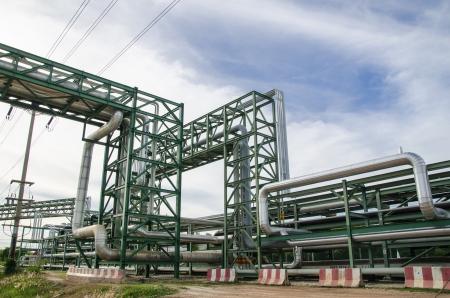 Pipe rack à Map Tha Phut zone industrielle, Thaïlande Banque d'images - 15233837