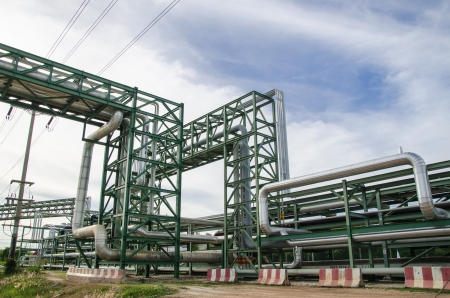 Pipe rack at Map Tha phut industrial estate, Thailand Stock Photo