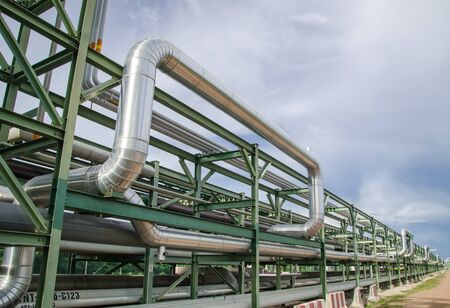 Pipe rack at Map Tha phut industrial estate, Thailand photo
