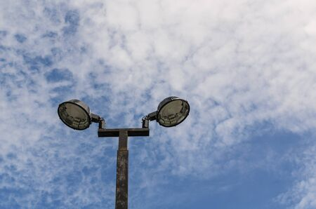 The electrical pole with blue sky Stock Photo - 16083364