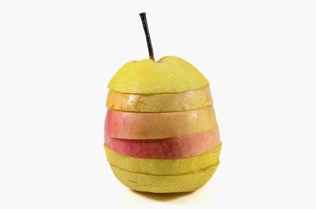 Frutas combinadas tornam-se um conjunto Banco de Imagens