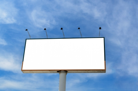 The big billboard with blue sky background photo