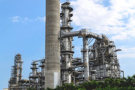 Petrochemical plant in Thai industrial estate