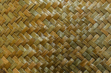 Wicker weaving texture and background photo