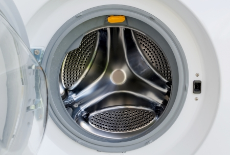 Open out the automatics washer machine