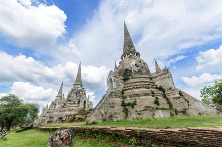 Ancient Pagoda at Ayutthaya Province, Thailand