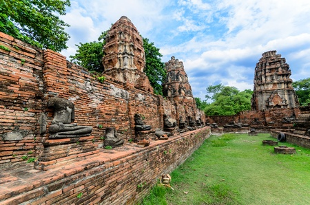 Ancient temple in Sukothai historical park, Thailand photo