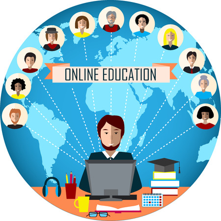 Concept of distance education and e-learning.
