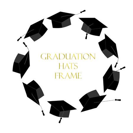Kreisrahmen von Abschlusskappen. Platz für Text. Graduierten Hintergrund Vektorgrafik